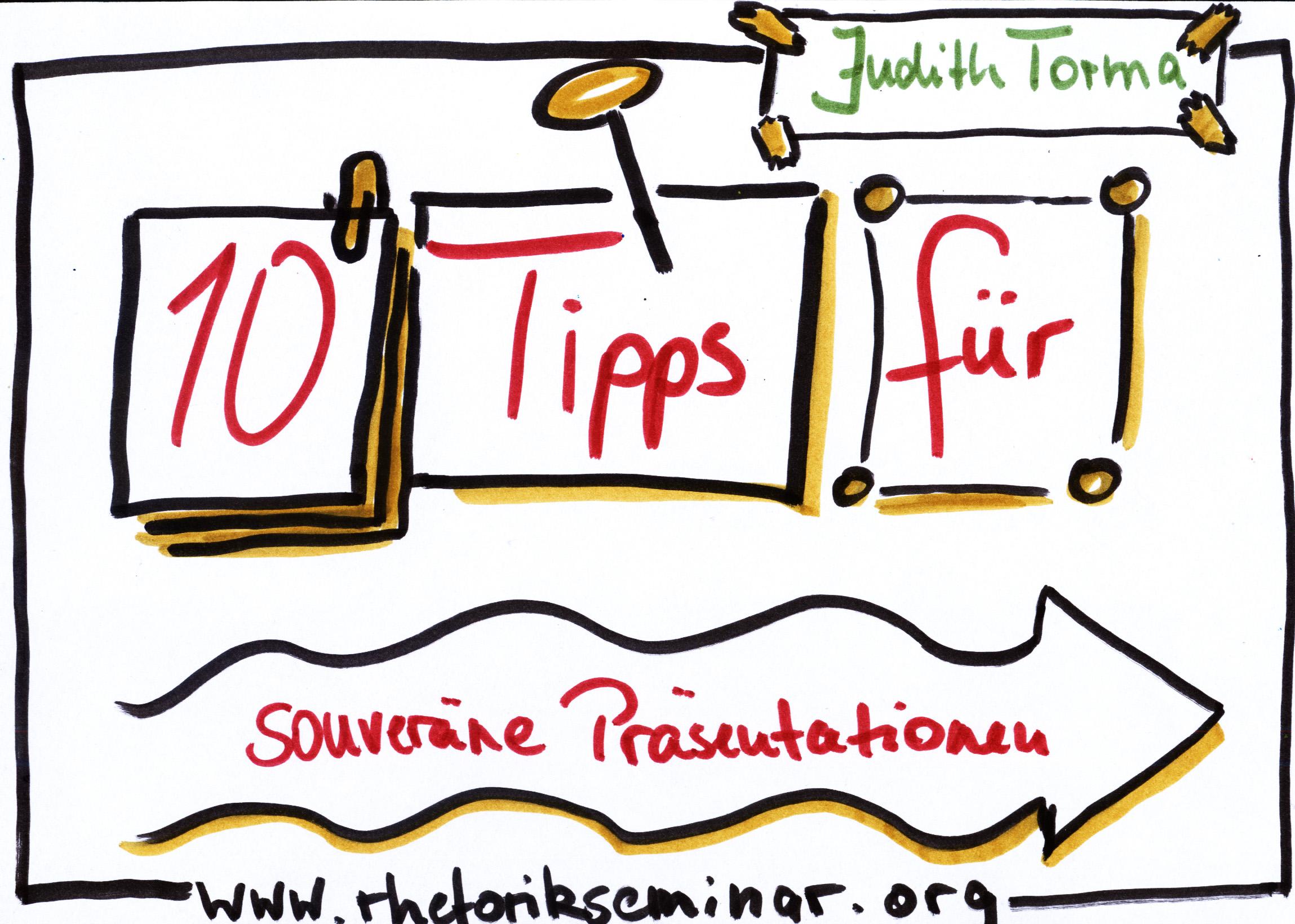 10 visualisierte Tipps für souveräne Präsentationen