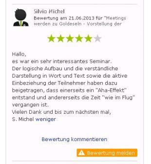 Bewertung Webinar Rhetorik