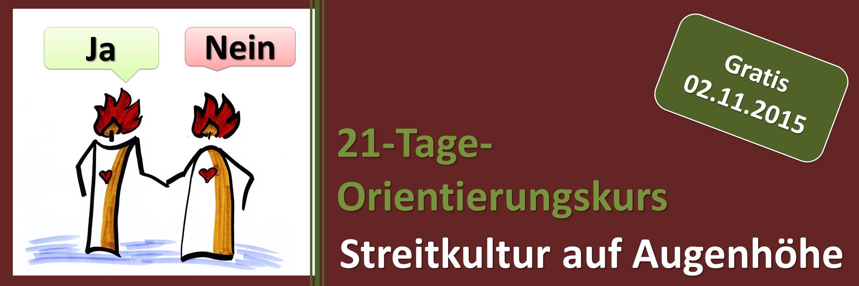 21-Tage-Orientierungskurs für eine Streitkultur auf Augenhöhe