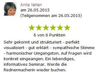 Anita Velten - 7 Eigenschaften