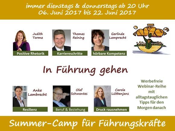 In Führung gehen - Summer-Camp für Führungskräfte